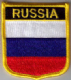 Russia Embroidered Flag Patch, style 07.